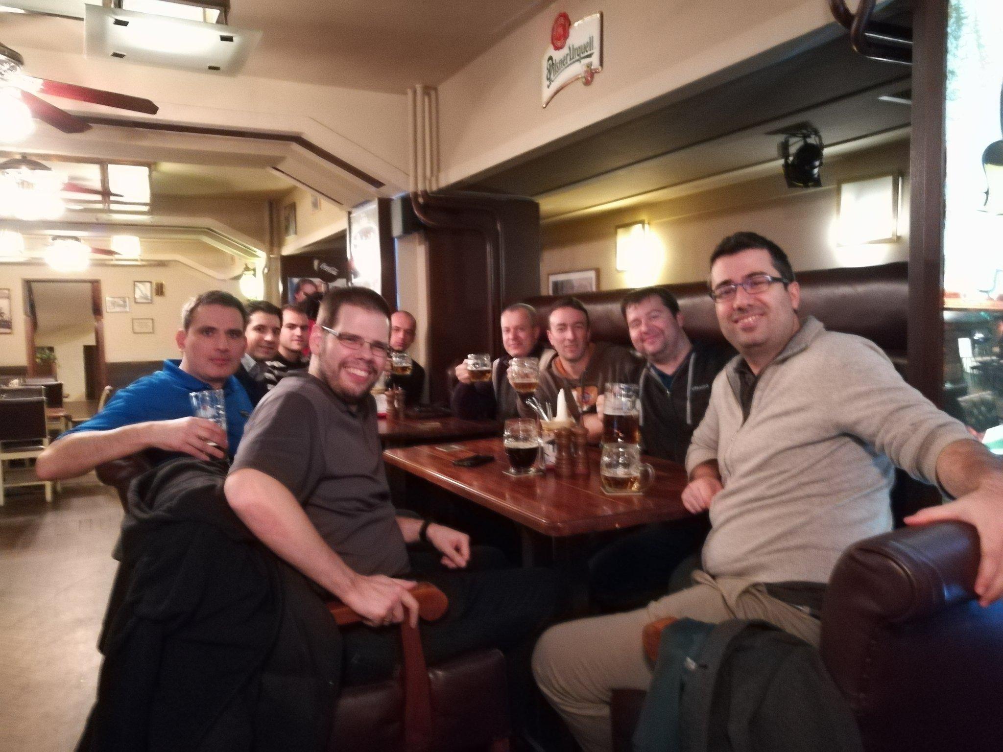Left to right: David Pasek (VMware), Michal Hrnčiřík (Runecast), Ivaylo Ivanov (Runecast), Manfred Hofer (VMware), Nikita Palchikov (Runecast), Andrea Mauro (vinfrastructure.it), Paolo Valsecchi (nolabnoparty.com), Karel Novak (Czech VMUG Leader), Stanimir Markov(Runecast).