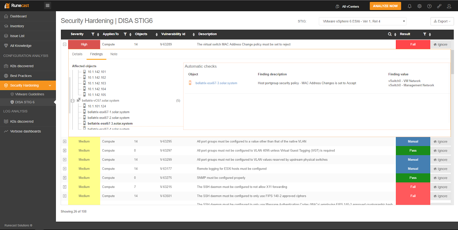 How to be DISA STIG-compliant with Runecast Analyzer
