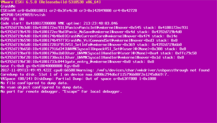 How To Deal With PSOD - The Purple Screen of Death