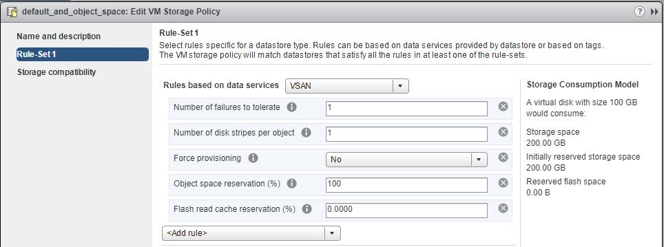VM Storage Policy