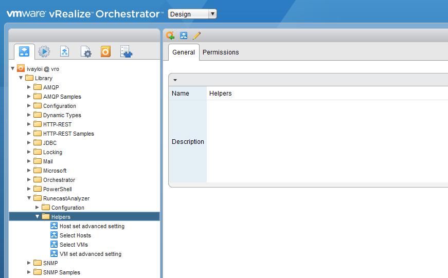 Screenshot of Workflows RunecastAnalyzer Helpers